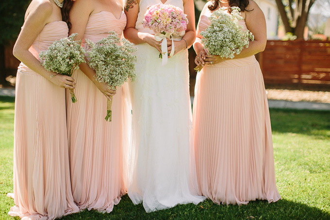 pink burlap and lace wedding | Danielle Capito Photography