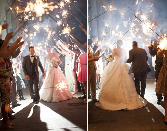 sparkler exit | Aislinn Kate Photography
