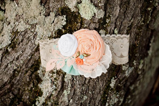 handmade garter | V.A. Photography