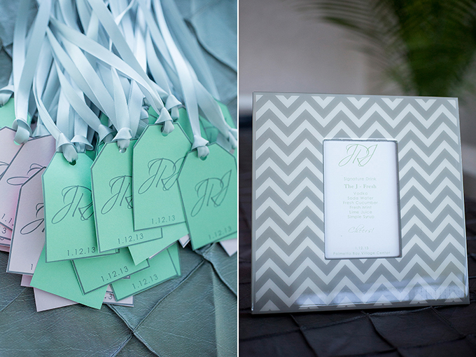 pink and mint Florida wedding | Captured Photography by Jenny
