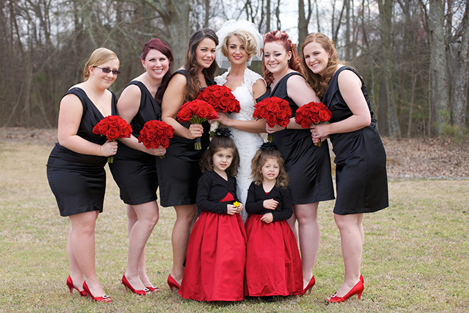 red and black vintage wedding | Live View Studios