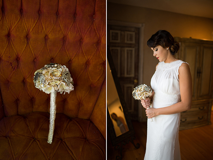 fabric and brooch bouquet | Driver Photo