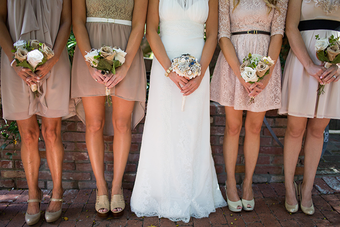 neutral mix n' match bridesmaids | Driver Photo