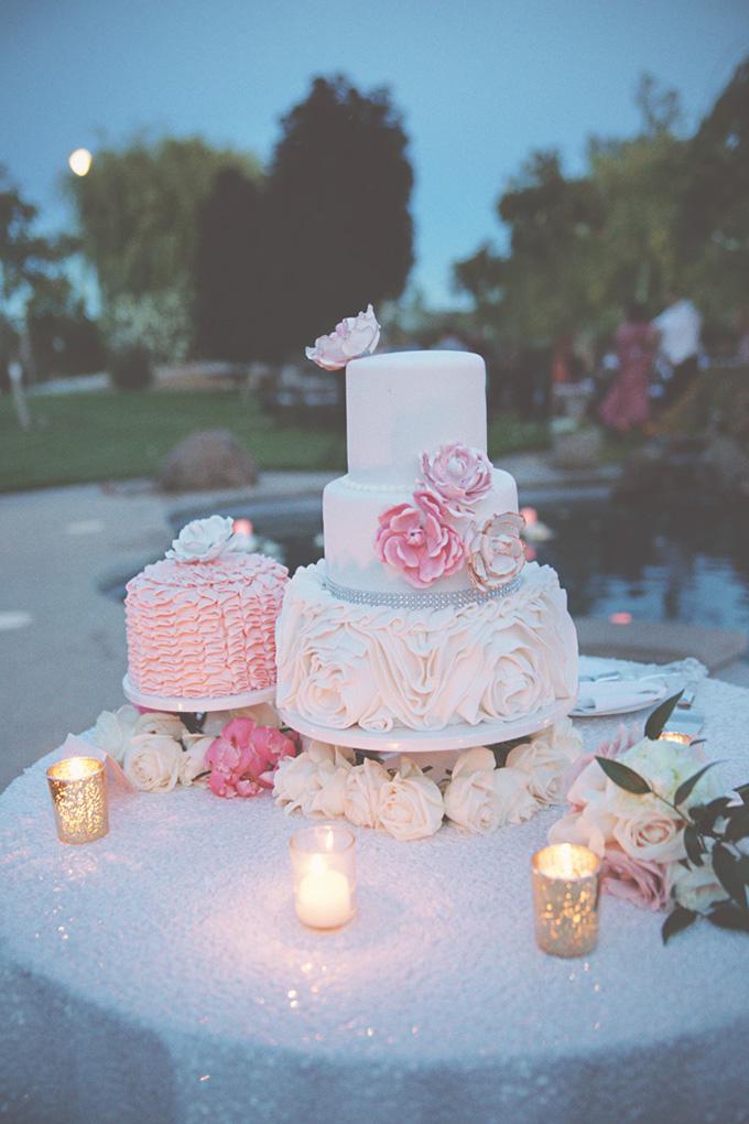 glam pink cake | Emily Heizer Photography