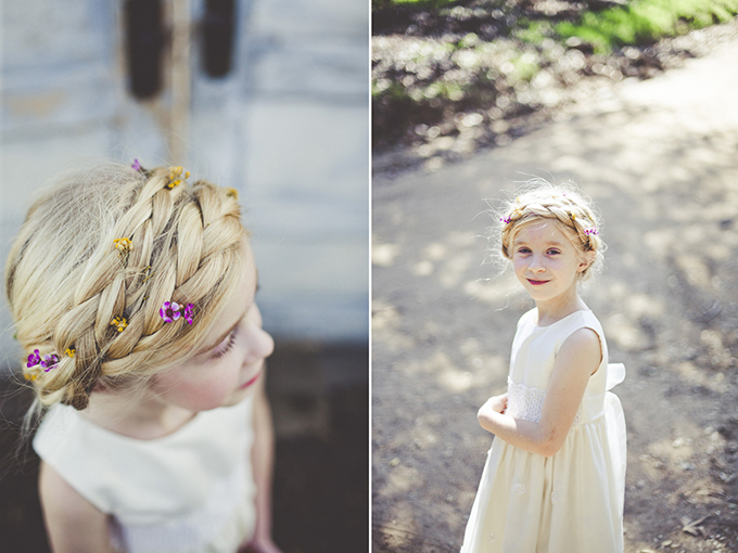 crown braided flower girl | Sarah Kathleen