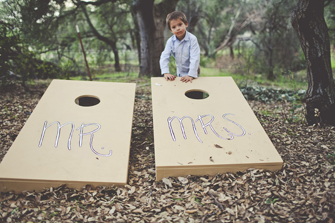 Mr and Mrs cornhole boards | Sarah Kathleen