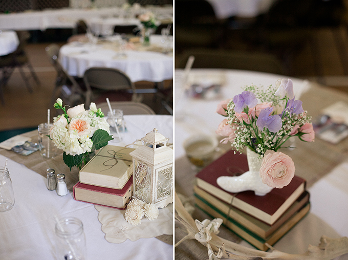 DIY vintage centerpieces | Sarah Becker Photography