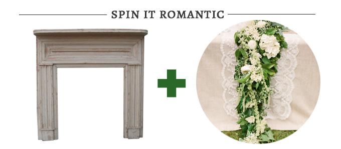romantic fireplace altar   Glamour & Grace