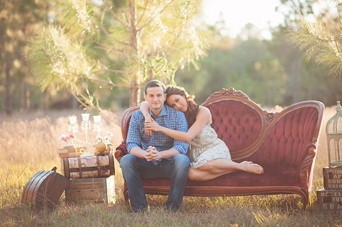 romantic vintage engagement | Best Photography