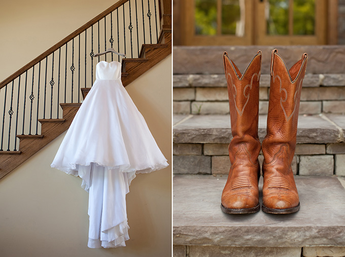 cowgirl boots and a wedding dress | Chesley Summar Photography