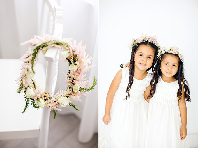 floral crown flower girls | Elaine Palladino Photography