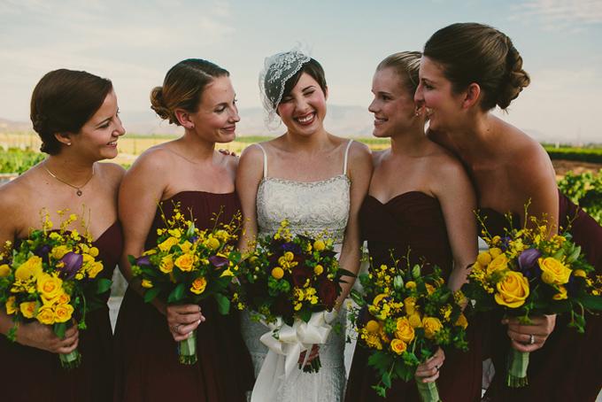 burgundy bridesmaids | Hom Photography