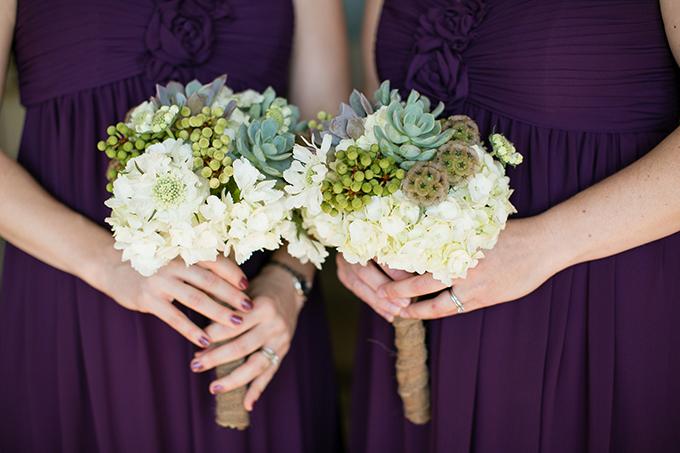 succulent and grape bouquets | Orbie Pullen Photography