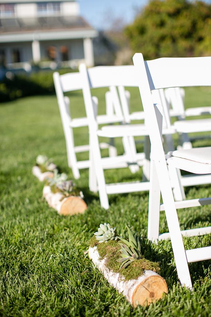 succulent aisle decor | Orbie Pullen Photography