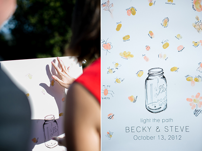 thumbprint guest book | Orbie Pullen Photography