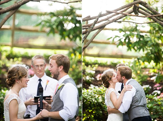 ceremony duet and first kiss | Brianna Wilbur Photography