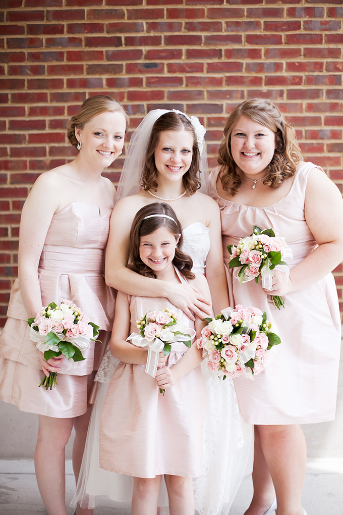pink bridesmaids | Jen & Chris Creed | Glamour & Grace