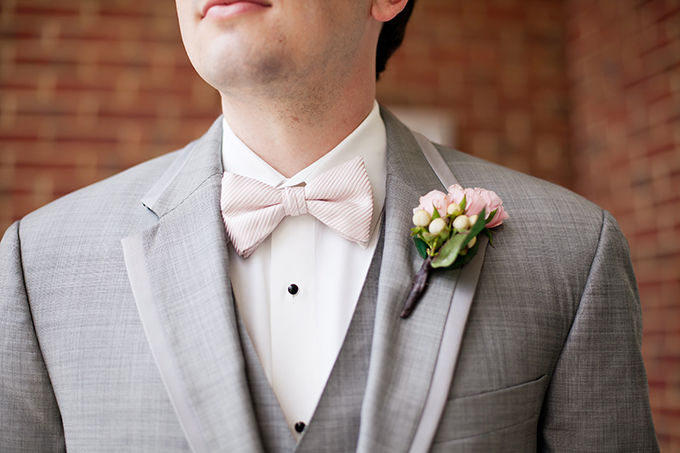 pink and gray groom | Jen & Chris Creed | Glamour & Grace