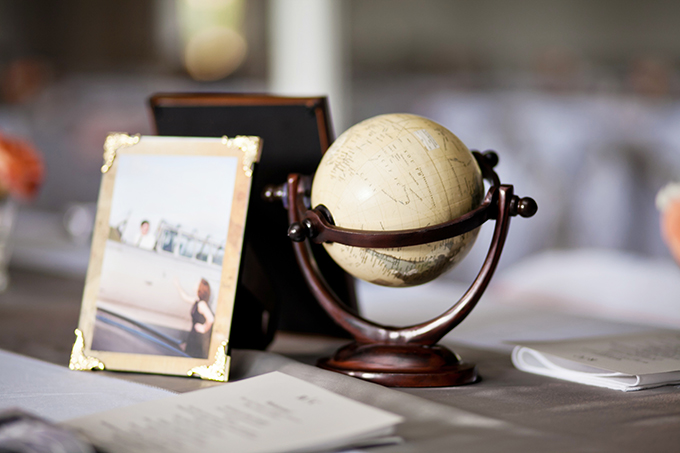 vintage travel centerpieces | Jen & Chris Creed | Glamour & Grace