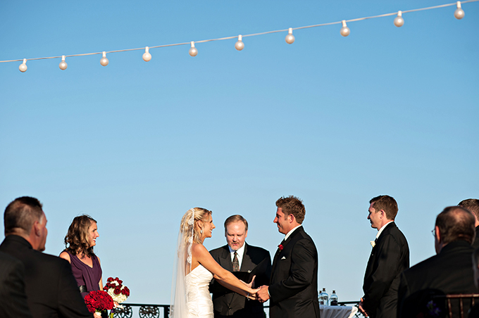 rooftop wedding | Kristen Weaver Photography | Glamour & Grace
