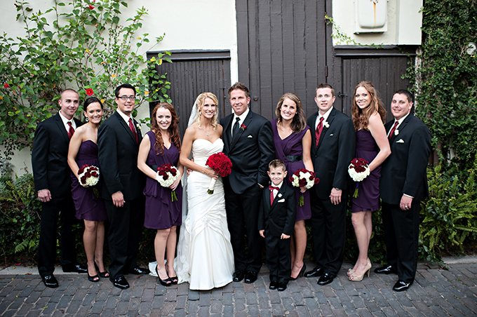 burgundy and plum bridal party | Kristen Weaver Photography | Glamour & Grace