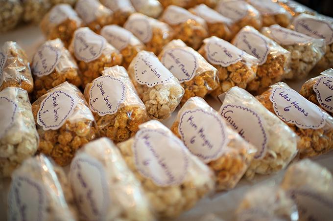 popcorn favor/escorts | Kristen Weaver Photography | Glamour & Grace