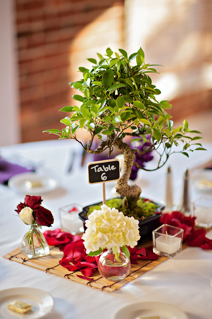 tree centerpieces | Kristen Weaver Photography | Glamour & Grace