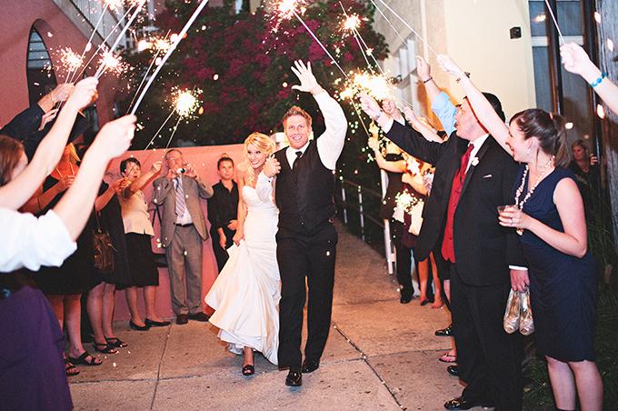 sparkler exit | Kristen Weaver Photography | Glamour & Grace