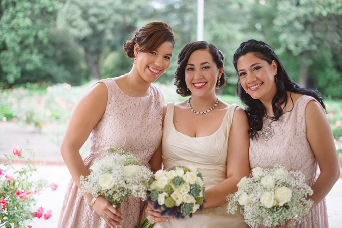 dusty pink bridesmaids | Marcella Treybig Photography | Glamour & Grace