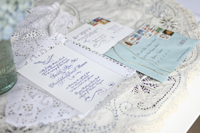 calligraphy letterpress invitation | Holly Cromer Photography | Glamour & Grace