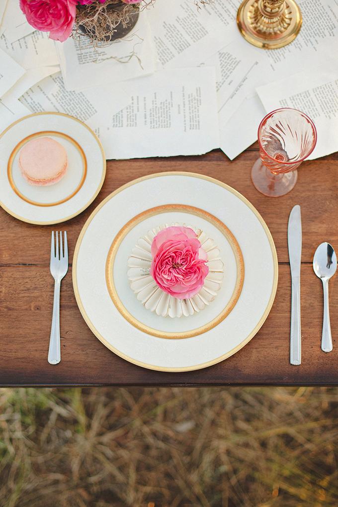 pink peony place setting | Denise Nicole Photography | Glamour & Grace