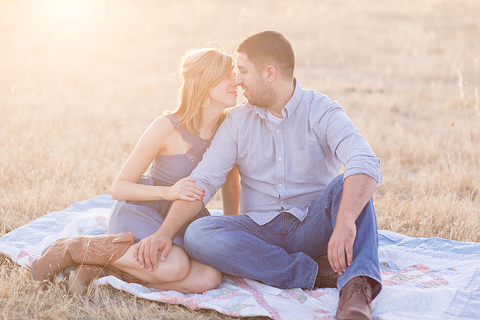 romantic rustic field engagement | TréCreative Film & Photo | Glamour & Grace