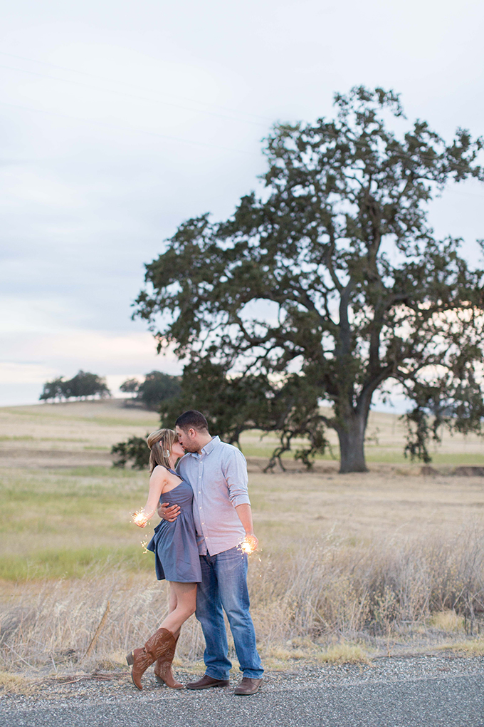 adorable sparkler engagement | TréCreative Film & Photo | Glamour & Grace