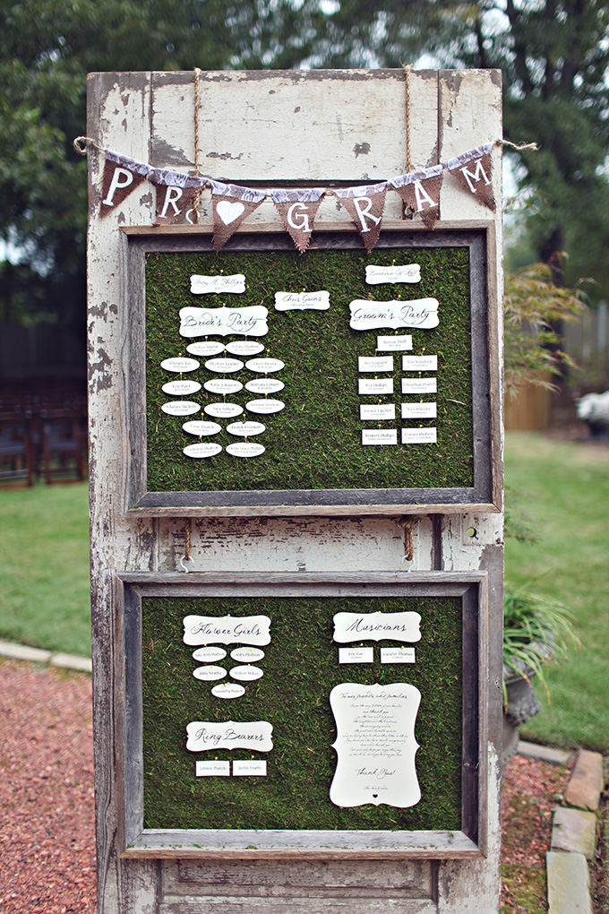 DIY rustic program | j.woodberry photography | Glamour & Grace