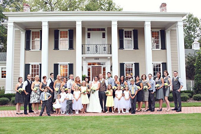 yellow and gray bridal party | j.woodberry photography | Glamour & Grace