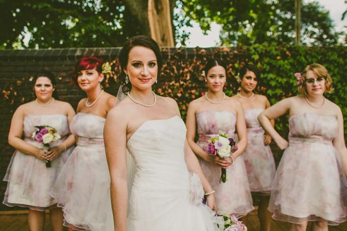 floral print bridesmaids | Carolyn Scott Photography | Glamour & Grace