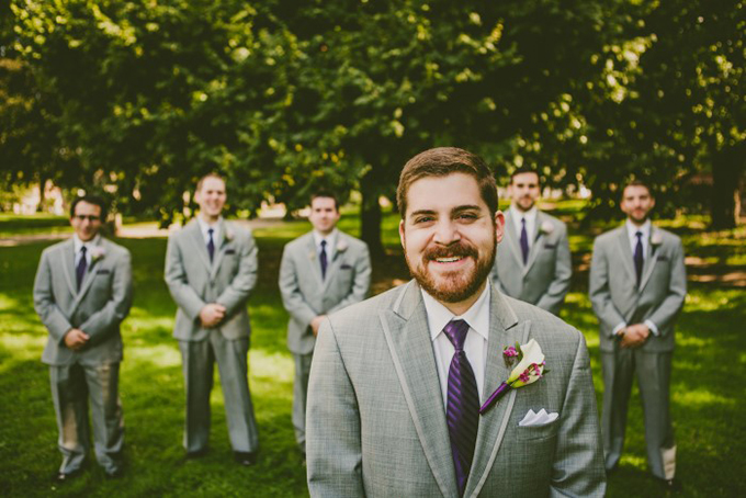 purple and gray groomsmen | Carolyn Scott Photography | Glamour & Grace