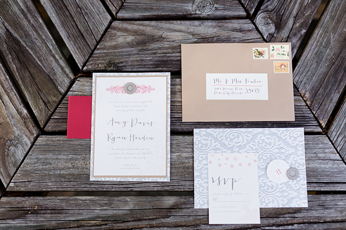 Christmas wedding invitations by Sprinkles Design | Theresa NeSmith Photography | Glamour & Grace