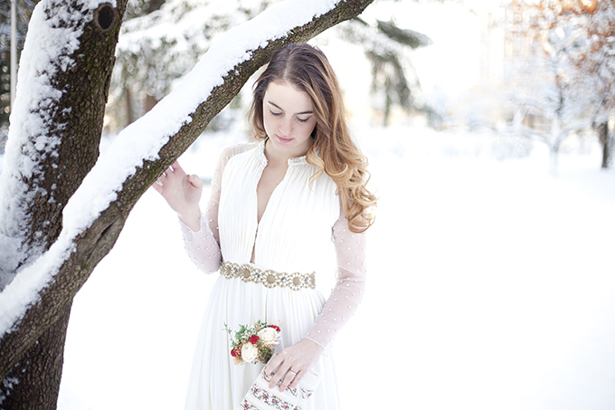 romantic winter bridals | I Heart Photos Studios | Glamour & Grace