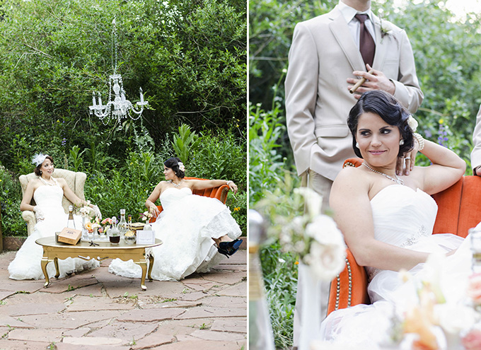 outdoor vintage lounge area | Green Blossom Photography | Glamour & Grace