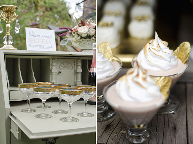 champagne and desserts | Green Blossom Photography | Glamour & Grace