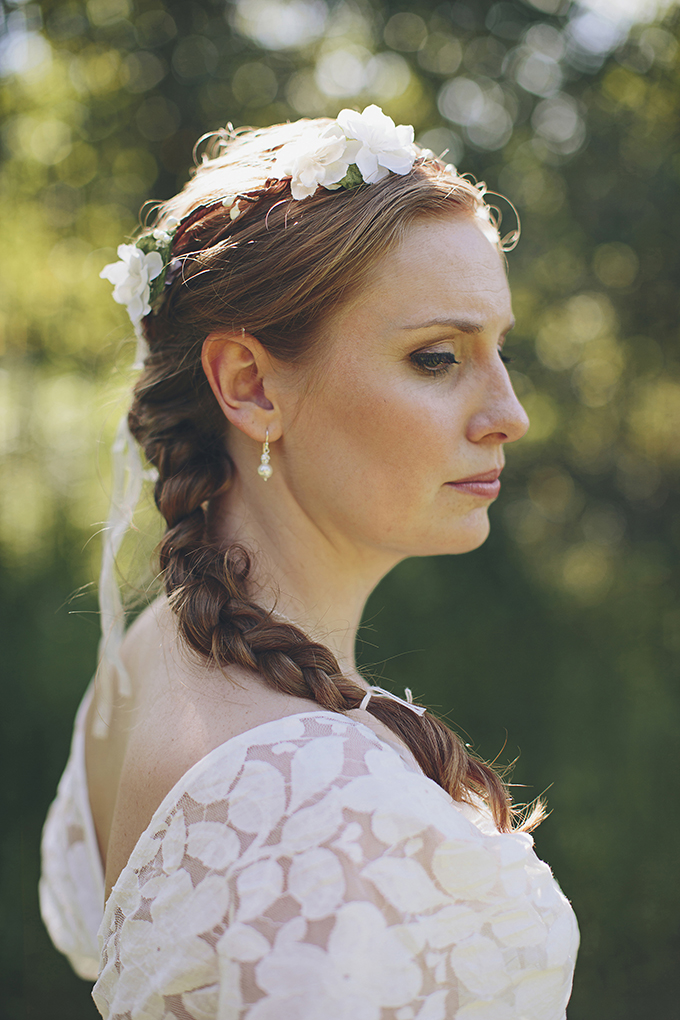 floral halo and braid | Brooke Courtney Photography | Glamour & Grace