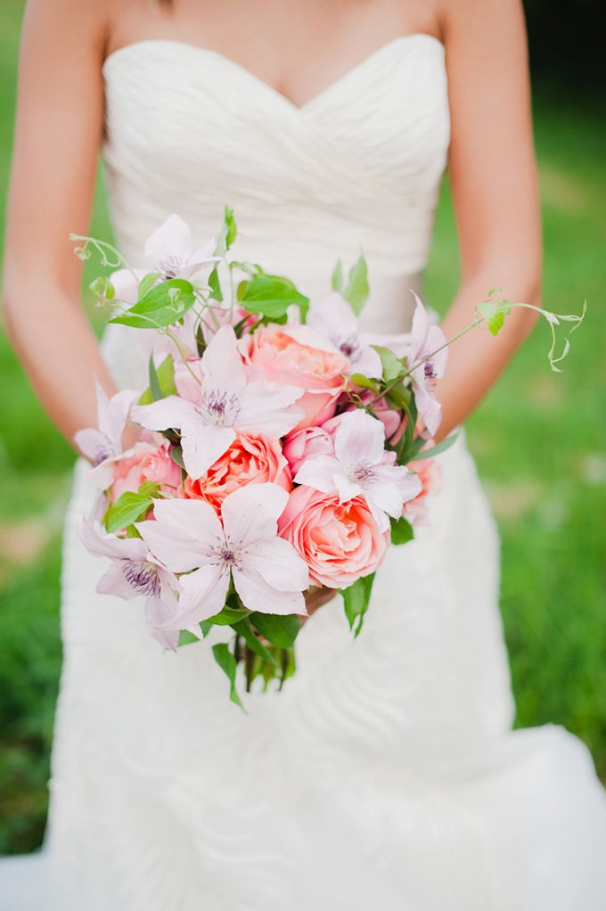 whimsical pink bouquet from Fleur:ology Design | Brittany Lauren Photography | Glamour & Grace