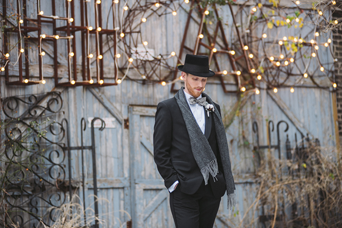 winter groom look | Two Birds Photography | Glamour & Grace