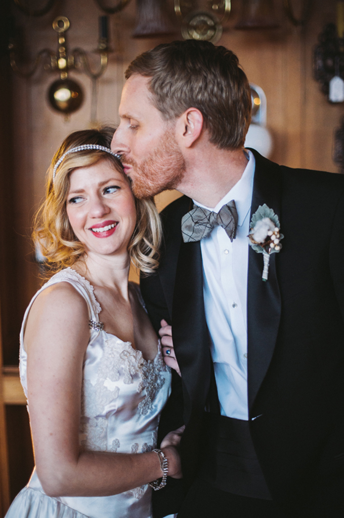 winter vintage wedding | Two Birds Photography | Glamour & Grace