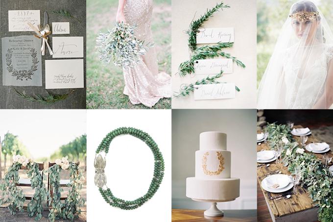 romantic laurel wedding inspiration