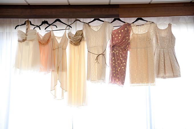 neutral bridesmaid dresses | Ellen Jaskol | Glamour & Grace