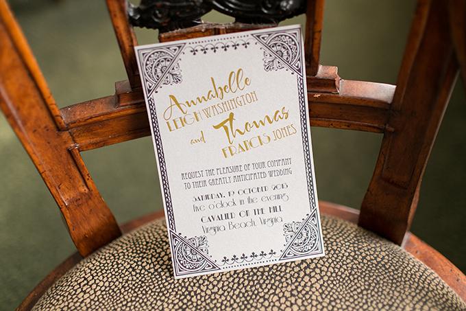art deco wedding invitation | Andi & Zoe Photography | Glamour & Grace