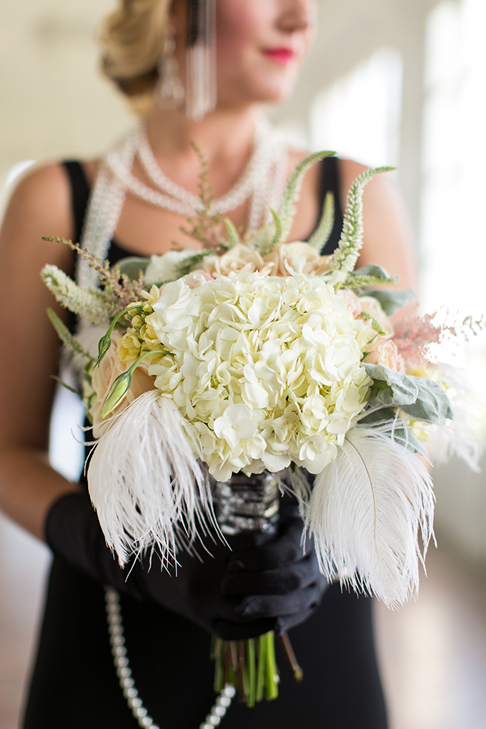 art deco bouquet | Andi & Zoe Photography | Glamour & Grace