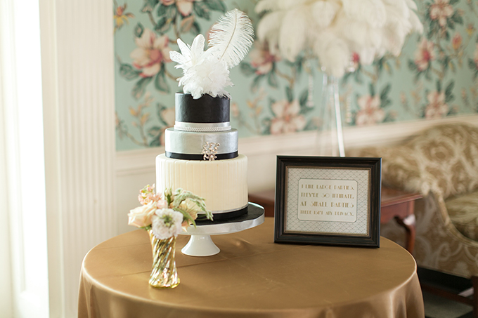 art deco cake | Andi & Zoe Photography | Glamour & Grace